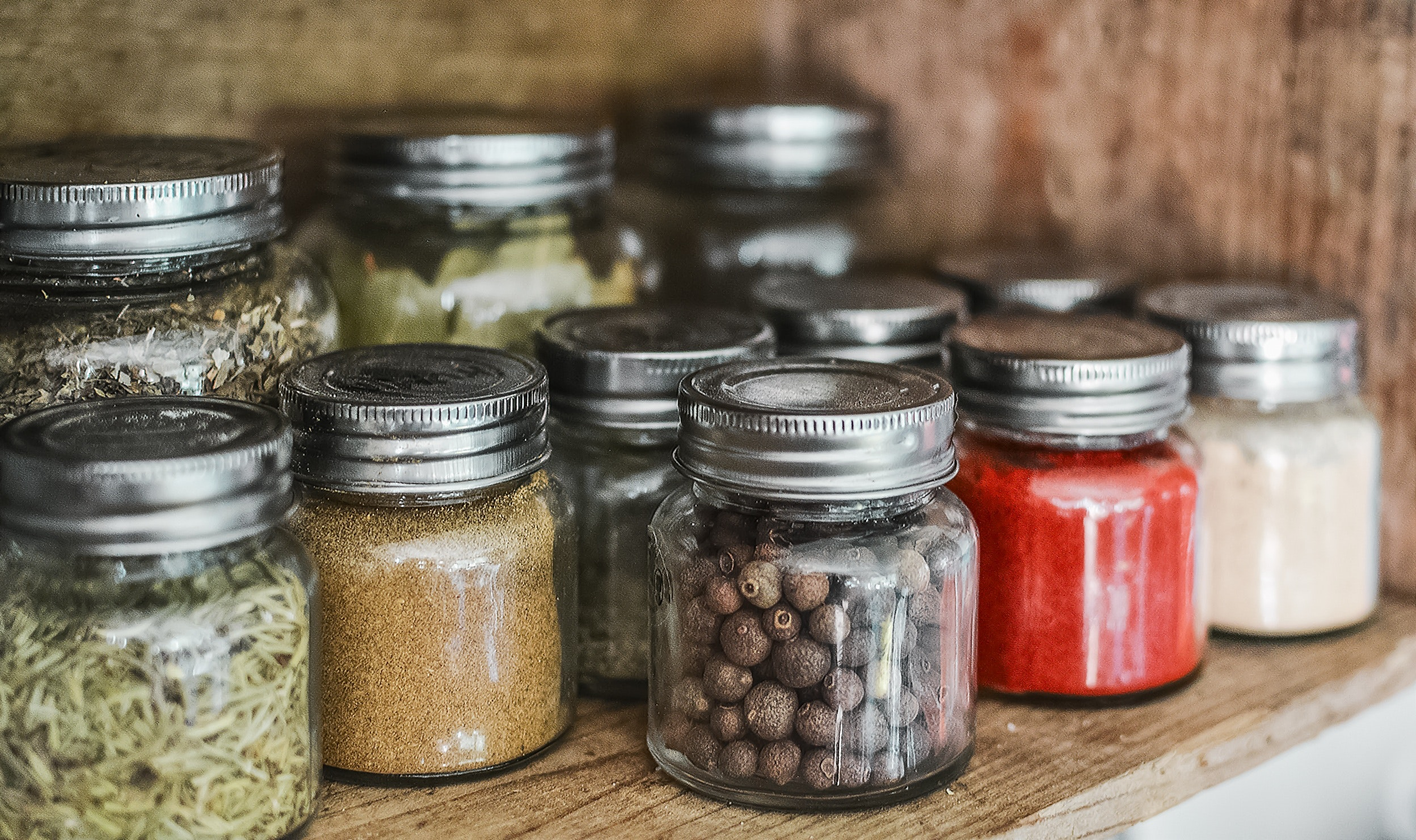Spices in a jar