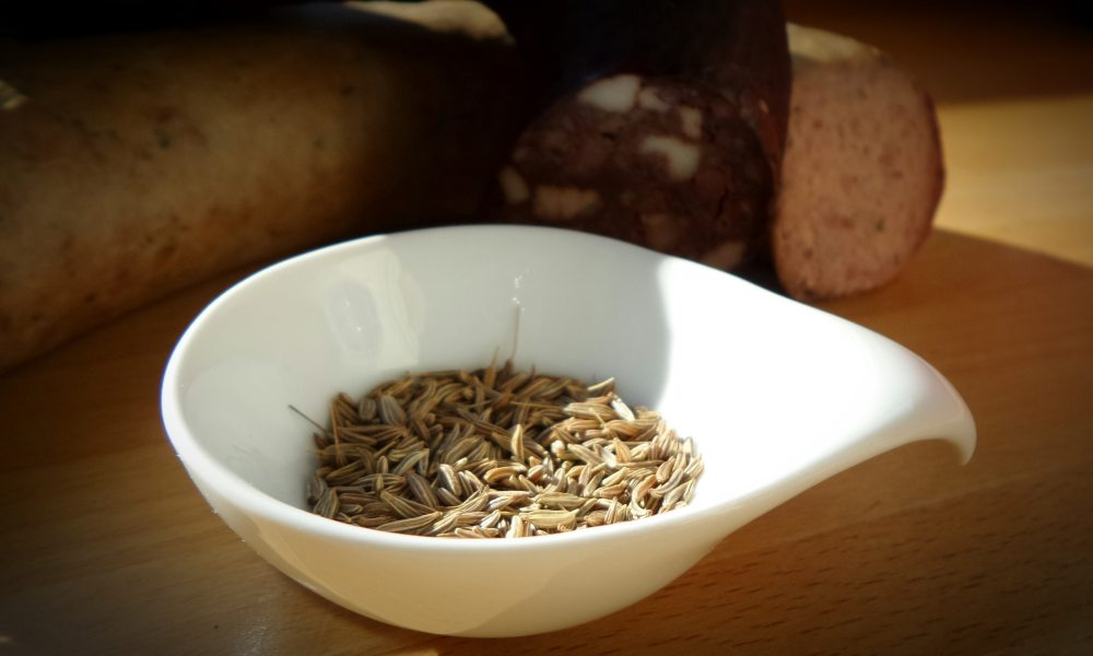 Cumin Seeds in a white bowl