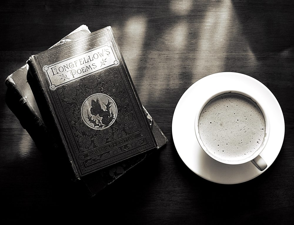 coffee and a book of poems